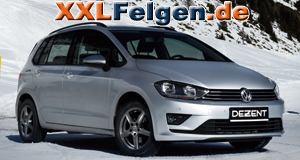 VW Golf Variant mit DEZENT TY Felgen in graphite matt