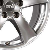 DBV 5SP 006 Leichtmetallräder in shadow silber