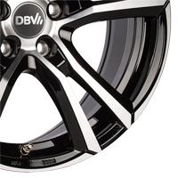 DBV Andorra schwarz poliert Doppelspeichen-Felgen