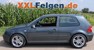 VW Golf IV + DBV Mauritius 17 Zoll  Leichtmetallfelgen