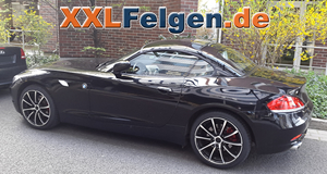 BMW Z4 mit DBV Tropez black 18 Zoll Sommerfelgen
