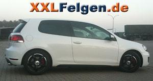 VW Golf VI + DBV Venezia black 16 Zoll Alufelgen