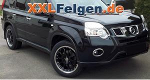 Nissan X-Trail mit schwarz lackierten DBV Leichtmetallfelgen
