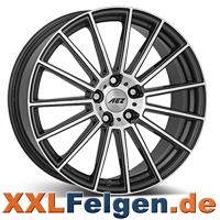 AEZ Steam Felgen in gunmetal mit polierter Front