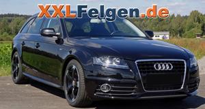 Audi A4 Avant + schwarz matte DBV Torino 2 Alufelgen
