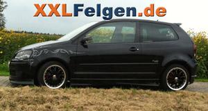 VW Polo 9N und DBV Australia black 16 Zoll Felgen