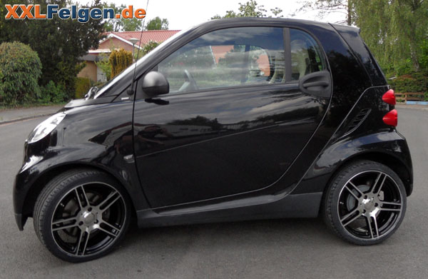 smart fortwo dbv smart mauritius black 17 zoll alufelgen. Black Bedroom Furniture Sets. Home Design Ideas