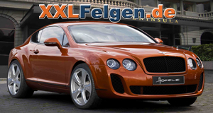 Bentley Supersports mit 22 Zoll Alufelgen von Hofele den Reverso II