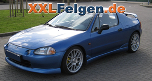 Honda Civic CRX + DBV Arizona 17 Zoll Felgen