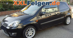 Ford Fiesta und  DBV Arizona 15 Zoll Alu-Kompletträder