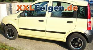Fiat Panda + DBV Tahiti black 13 Zoll Alufelgen und Reifen