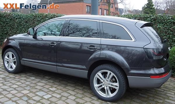 Audi Q7 + DBV Mauritius 20 Zoll Alufelge als Komplettrad mit SUV Reifen