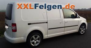 VW Caddy mit DBV Como 16 Zoll Felgen