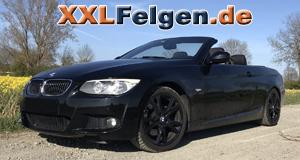 BMW 3 E93 mit schwarzen DBV Andorra Felgen 18 Zoll