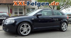 Audi A3 + DBV Mauritius 18 Zoll Alufelgen