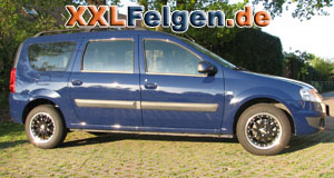 Dacia Logan DBV Australia black Felgen 15 Zoll
