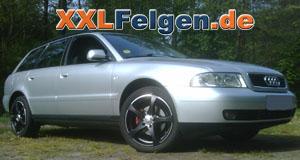 Audi A4 + DBV Venezia black 17 Zoll Felgen