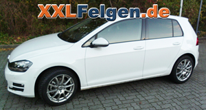 VW Golf VII + DBV Tropez 17 Zoll Alufelgen