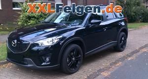 Mazda CX-5 mit schwarzen 19 Zoll Alufelgen  - DBV Mauritius full black