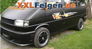 VW T4 und schwarze DBV Australia Alufelgen in 17 Zoll