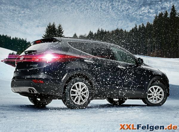 DEZENT TE Alufelgen in silber  für den Hyundai Santa Fe