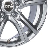 DBV Andorra Leichtmetallräder shadow silber lackiert