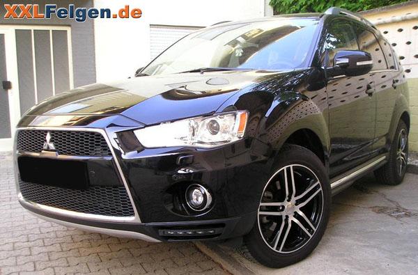 Mitsubishi Outlander + DBV Mauritius black 18 Zoll Felgen