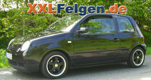 VW Lupo + DBV Tahiti black Alufelgen