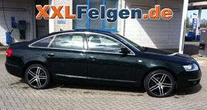 Audi A6 4F + DBV Mauritius black Felgen 18 Zoll