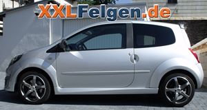 Renault Twingo N + DBV Venezia anthrazit 16 Zoll Felgen
