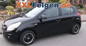 Hyundai i20 + DBV Tahiti black 14 Zoll Felgen