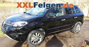 Renault Koleos mit 18 Zoll Alufelge der DBV Milano