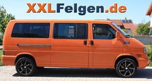 VW T4 + Ronal R51 black 18 Zoll Alufelgen