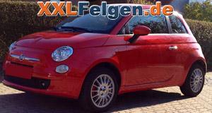 Fiat 500 und DBV Florida Felgen