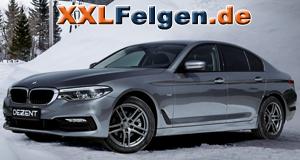 BMW 5er mit DEZENT TZ-c Felgen in graphite