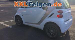 MCC-Smart ForTwo Coupe 451 mit 15 DBV Bali Felgen anthrazit matt