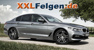 BMW 5er Limousine G30 mit DEZENT TZ DARK Alufelgen