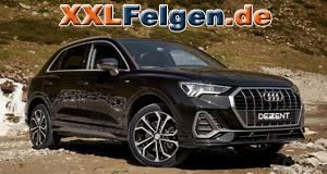Audi Q3 und DEZENT TA DARK Felgen