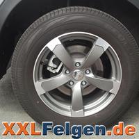DBV Torino II anthrazit matt Felgen mit Reifen als Kompletträder