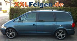 VW Sharan + DBV Venezia 18 Zoll Felgen