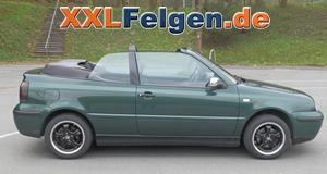 VW Golf IV Cabrio 1.8 i 1E mit 15 Zoll DBV Tahiti black Alufelgen