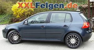 VW Golf  V + DBV S-Florida black 17 Zoll Alufelgen