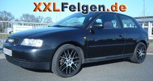 Audi A3 8L + DBV Arizona black Felgen 17 Zoll