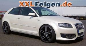 Audi A3 mit DBV S-Mauritius Felgen in 19 Zoll