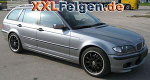 BMW 3er E46 Touring mit DBV S-Australia 18 Zoll Felgen