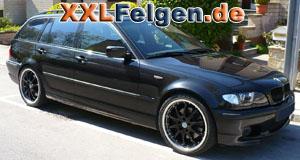 BMW 3er E46 Touring mit DBV S-Australia 19 Zoll Felgen