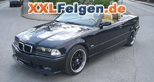 BMW 3er + Rial Nogaro schwarz 17 Zoll Felgen