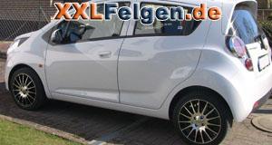 Chevrolet Spark mit DBV Florida black 16 Zoll Felgen