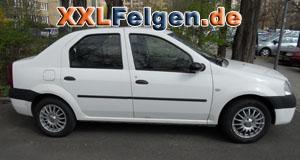 Dacia Logan mit DBV Florida 15 Zoll Felgen