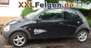 Ford Ka mit DBV Adria 14 Zoll Alufelgen